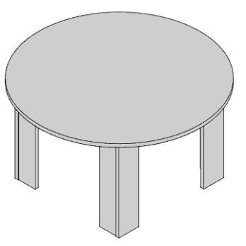 Okrúhly stôl PZ 47